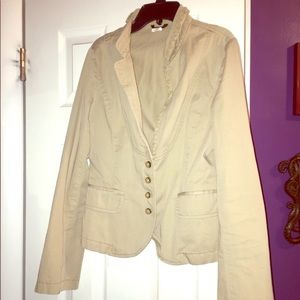J. Crew khaki blazer-Great shape Sz 8, Like new!